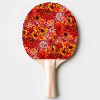 Floral Bright Rojo Bouquet Rich Red Hot Daisies Ping Pong Paddle