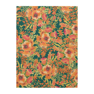 Floral Bunch Wood Wall Art