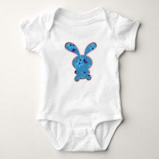 Floral bunny baby bodysuit
