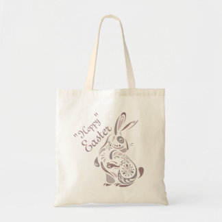 Floral Bunny Tote Bag Budget Tote Bag