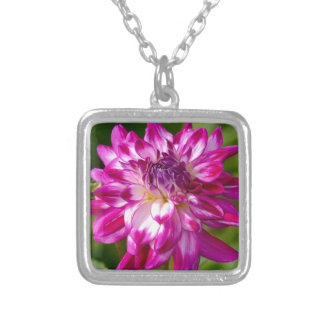 Floral Burst Silver Plated Necklace