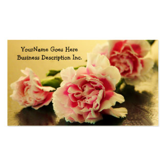 Floral Business Pink Carnations Business Card