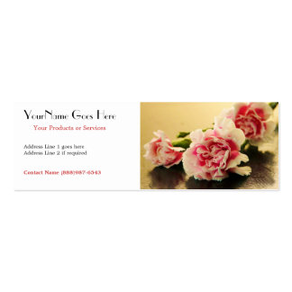Floral Business Pink Carnations Business Card Template