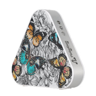 Floral Butterflies colorful sketch pattern