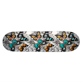 Floral Butterflies colorful sketch pattern 18.1 Cm Old School Skateboard Deck