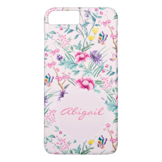 Floral & Butterflies Pink Chinoiserie Phone Case