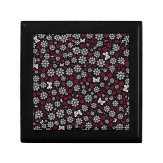 Floral Butterflies Small Square Gift Box