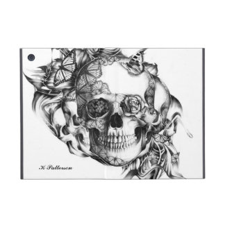 Floral butterfly skull from hand illustration iPad mini cover