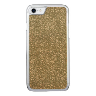 Floral Calico Cowboy Western USA Print Kale Green Carved iPhone 8/7 Case