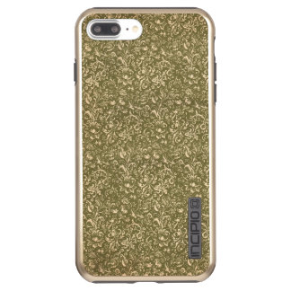 Floral Calico Cowboy Western USA Print Kale Green Incipio DualPro Shine iPhone 8 Plus/7 Plus Case