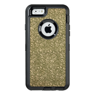 Floral Calico Cowboy Western USA Print Kale Green OtterBox Defender iPhone Case