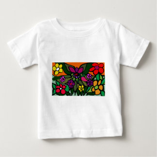 floral canva baby T-Shirt