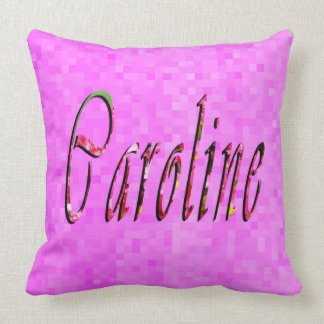Floral Caroline Name Logo, Cushion