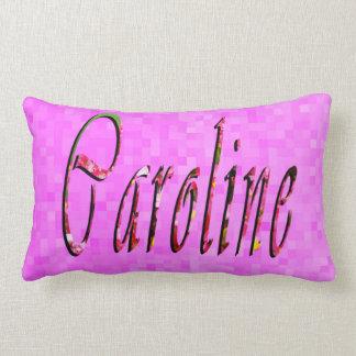 Floral Caroline Name Logo, Lumbar Cushion