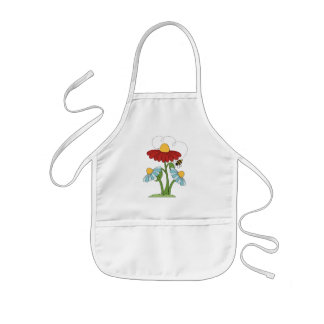 Floral cartoon fun gardening or Kitchen apron kids