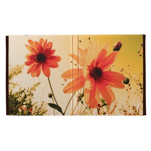 floral iPad folio cover
