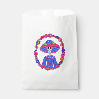 Floral Catrina Favour Bag