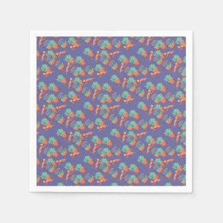 floral cats disposable serviette