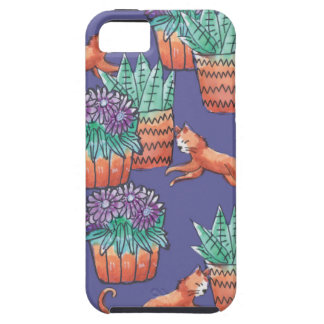 floral cats iPhone 5 case