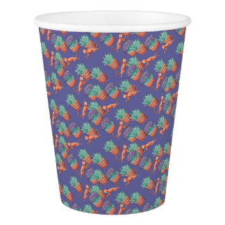 floral cats paper cup