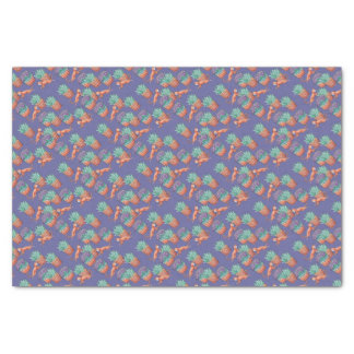 floral cats tissue paper