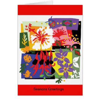 Floral Celebration - Australian Xmas Cards