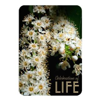 Floral Celebration of Life Invitation #1