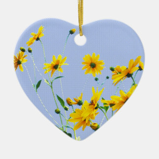 floral ceramic heart decoration