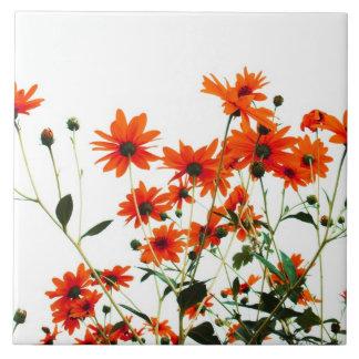 floral ceramic tile