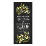 floral chalkboard wedding program cards custom rack cards