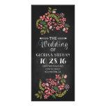 floral chalkboard wedding program cards custom rack card