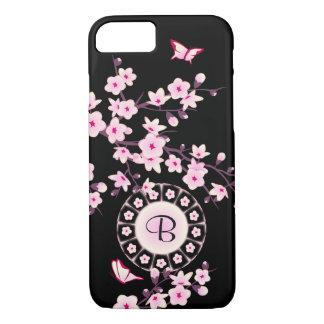 Floral Cherry Blossoms Monogram iPhone 8/7 Case
