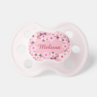 Floral Cherry Blossoms Personalized Glitter Dummy