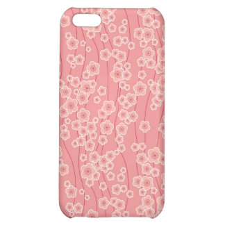 floral cherry blossoms pink flowers cover for iPhone 5C