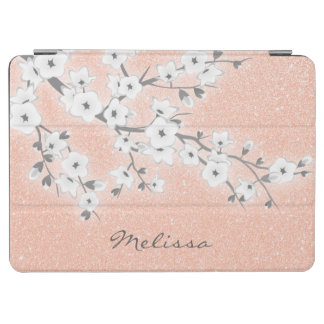 Floral Cherry Blossoms Rose Gold iPad Air Cover