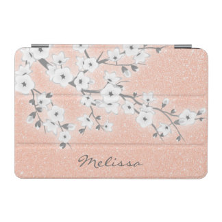 Floral Cherry Blossoms Rose Gold iPad Mini Cover