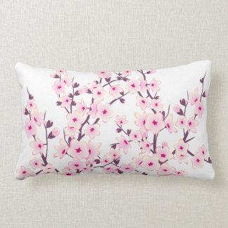 Floral Cherry Blossoms (Sakura) Lumbar Pillow