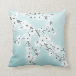 Floral Cherry Blossoms Throw Pillow