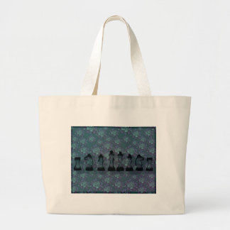 Floral Chess Large Tote Bag