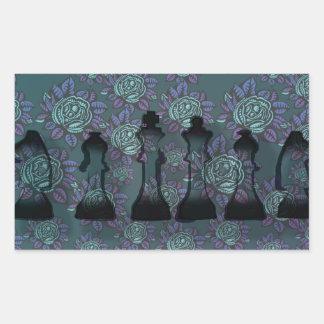 Floral Chess Rectangular Sticker