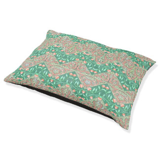 Floral Chevron Paisley Filigree ZigZag Flowers Pet Bed