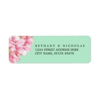 Floral Chic Return Address Labels / Mint