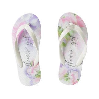 FLORAL CHIC WEDDING SWEET PEAS Flower Girl2 Kid's Thongs