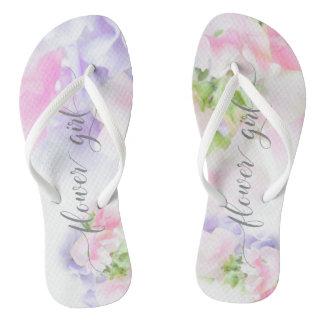 FLORAL CHIC WEDDING SWEET PEAS Flower Girl Thongs