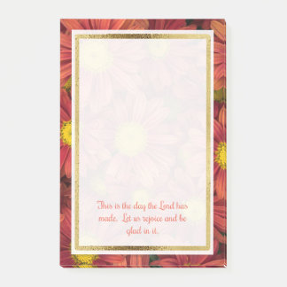 Floral Christian Bible Verse Post It Post-it® Notes