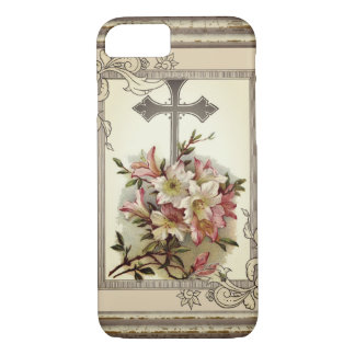 Floral Christian Cross iPhone 8/7 Case