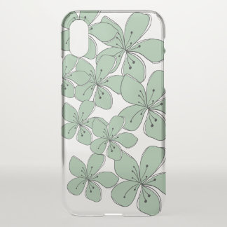 Floral Clear iPhone X Phone Case