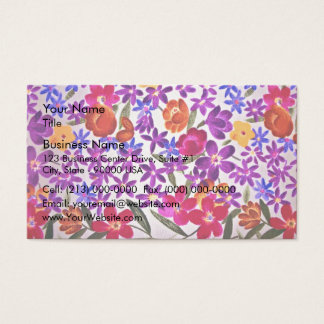 Floral cloth material business card