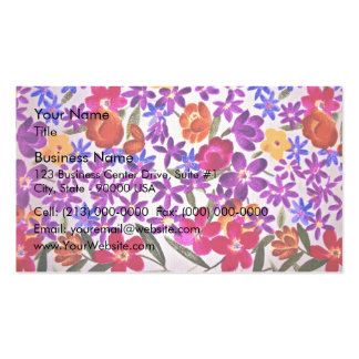 Floral cloth material pack of standard business cards
