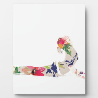 Floral Cobra Yoga Pose Series Plaque